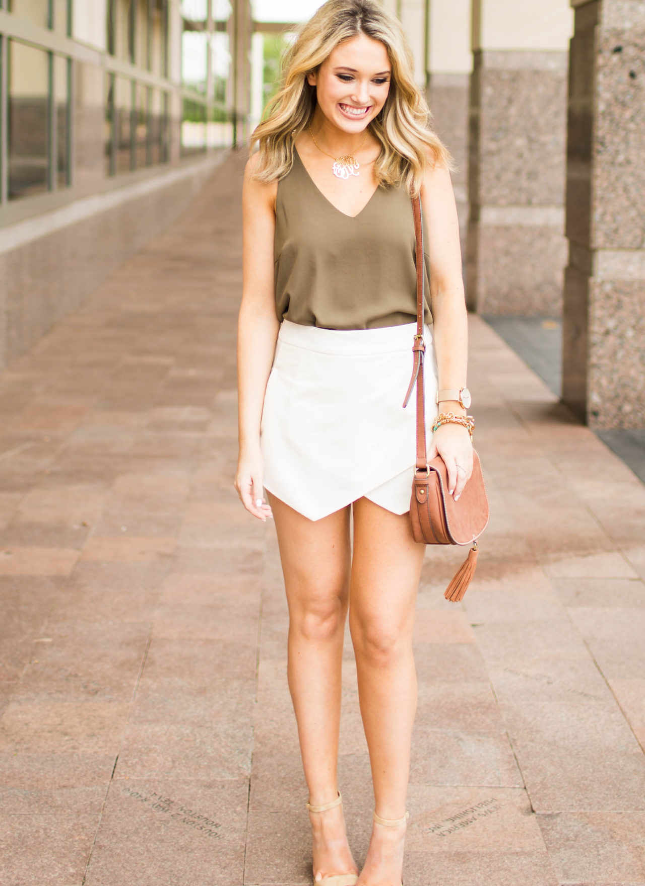White Skort Outfit