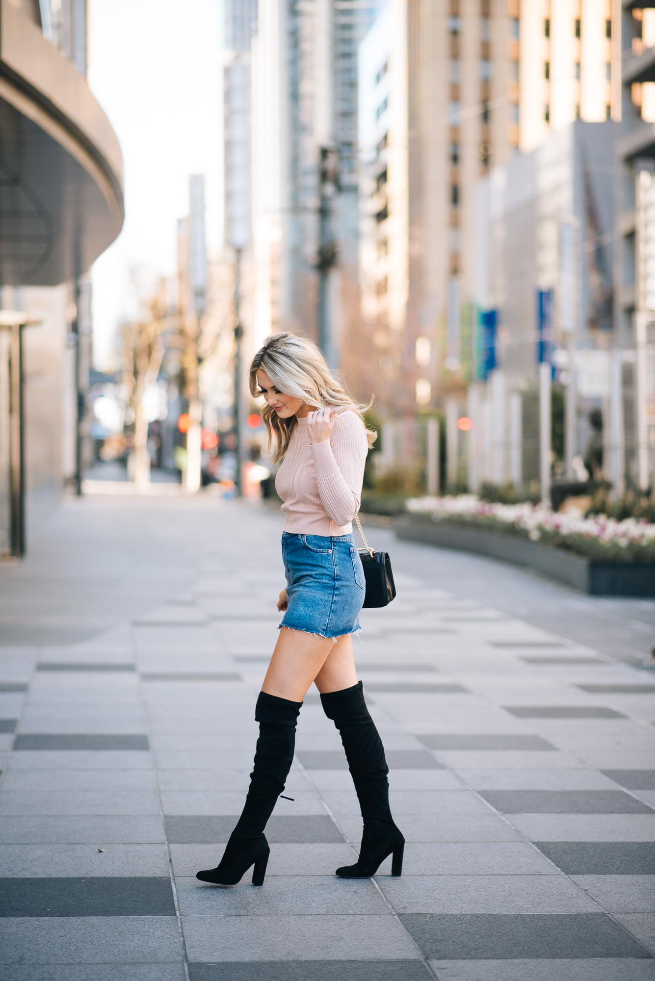 Emily Herren Denim Mini Skirt