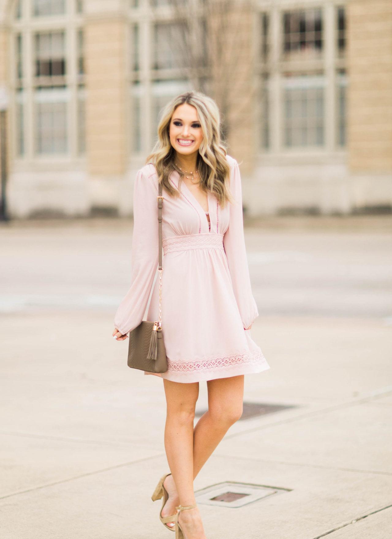 pink dress emily herren
