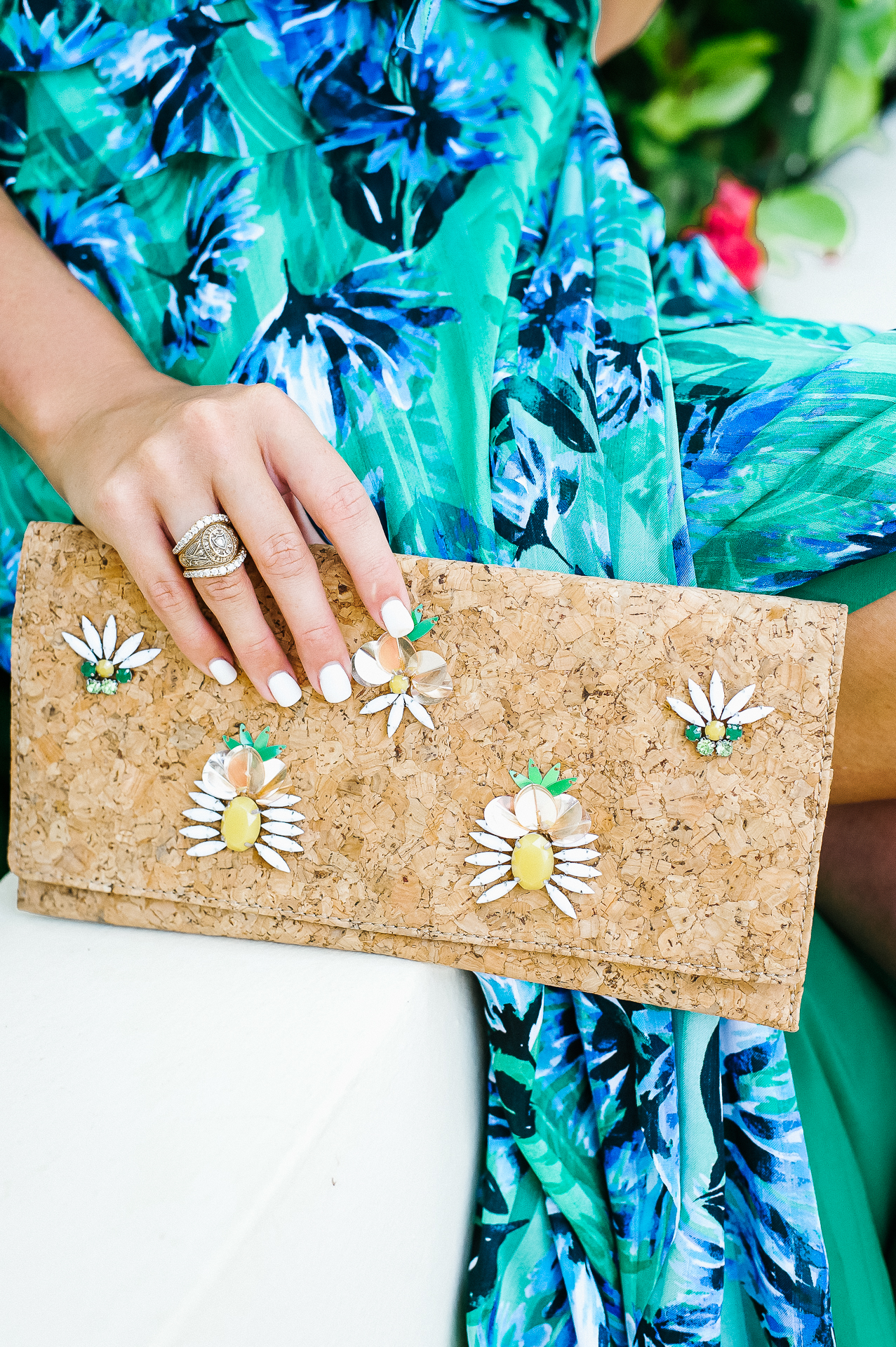 palm leaf print maxi