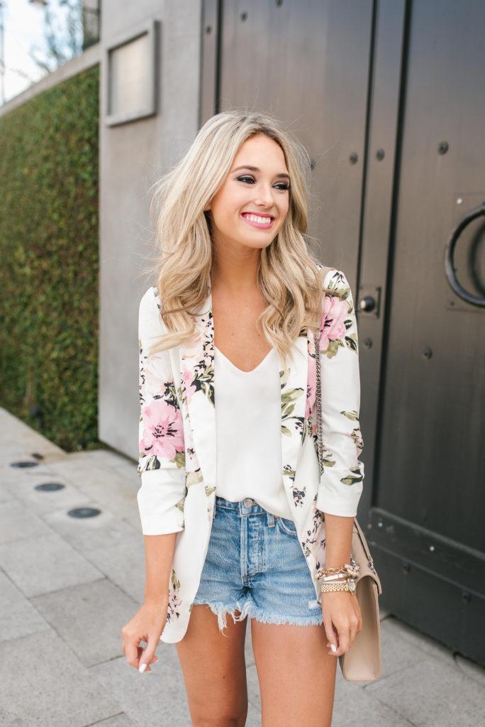 spring floral blazer