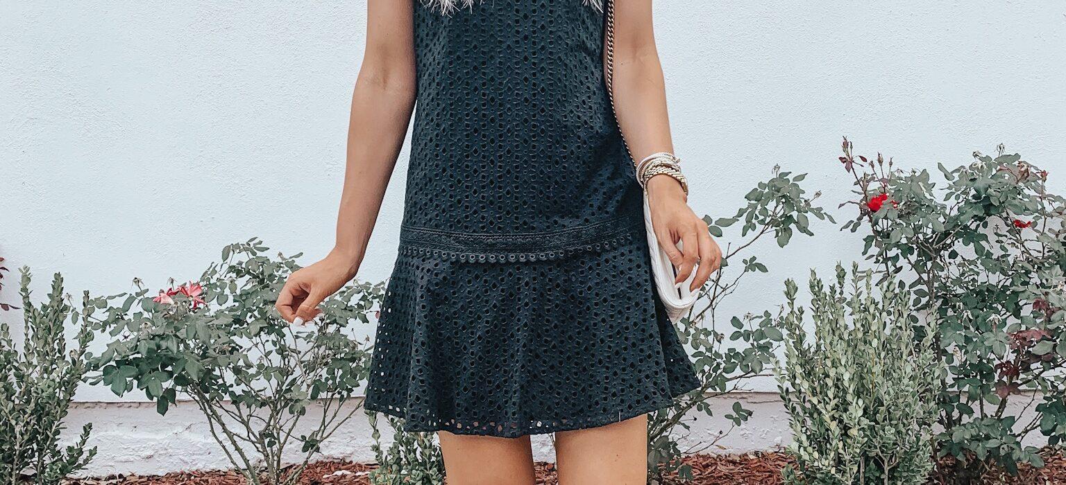 Little Black Eyelet Dress