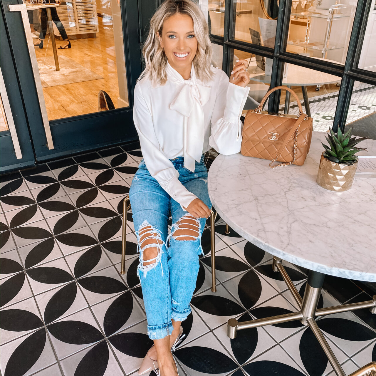 White Bow Blouse (on sale!)
